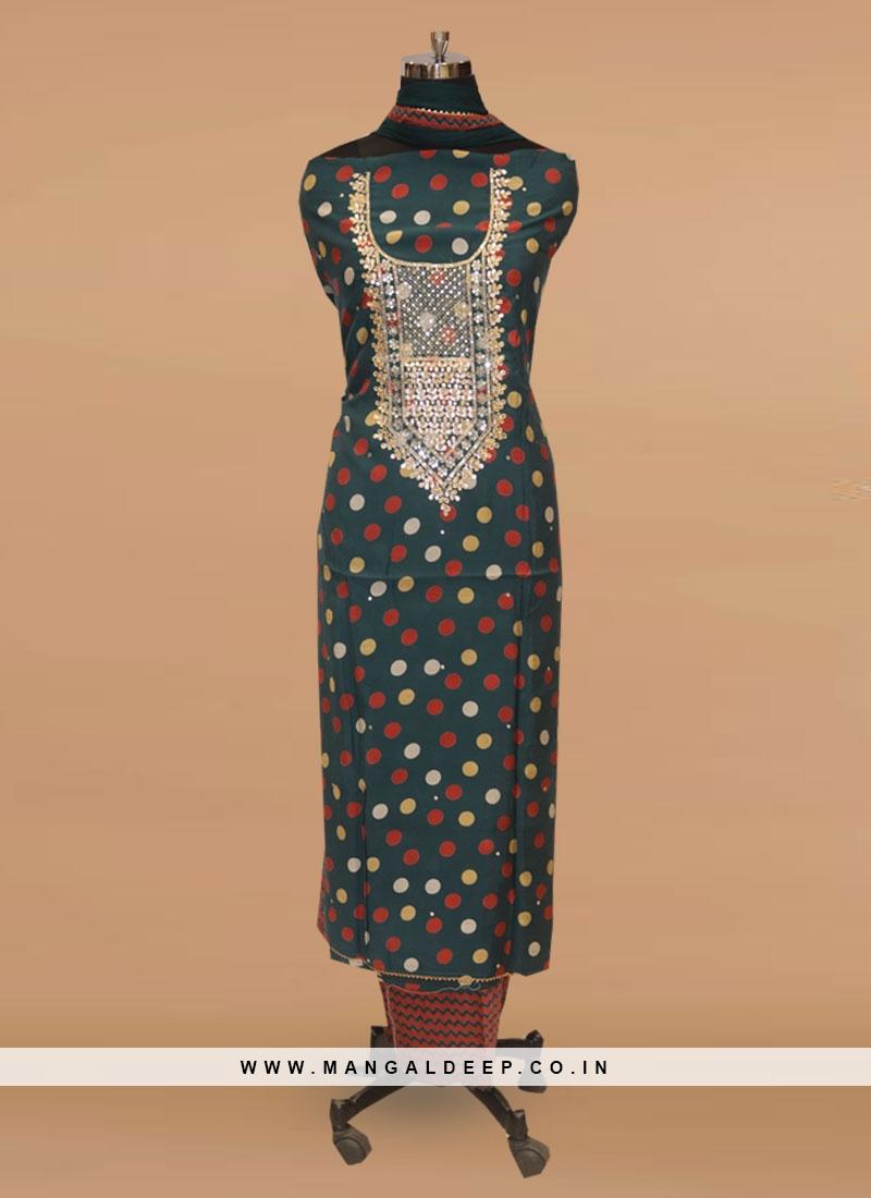 Fabulous Multi Color Function Wear Designer Salwar Kameez