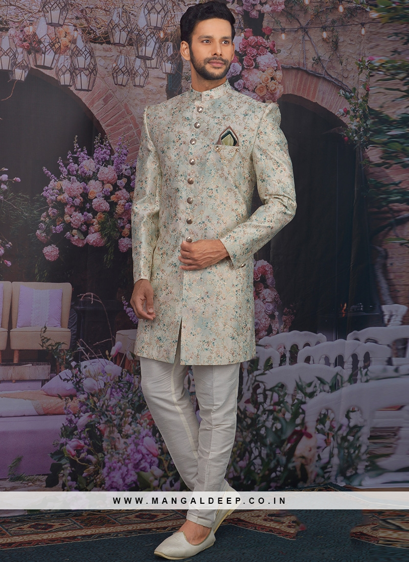 Fabulous Multi Color Men Indo Western For Wedding