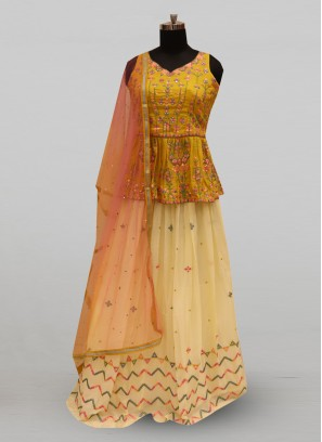 Fabulous Multi Color Party Wear Deisgner Lehenga Choli