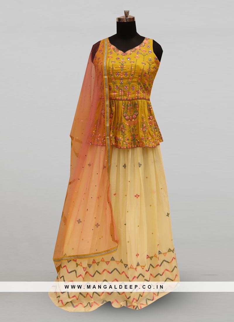 Fabulous Multi Color Party Wear Deisgner Lehenga Choli