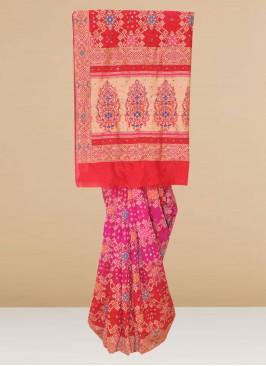 Fabulous Multi Color Party Wear Designer Saree