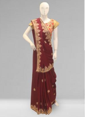 Fabulous Multi Color Party Wear Silk Saree