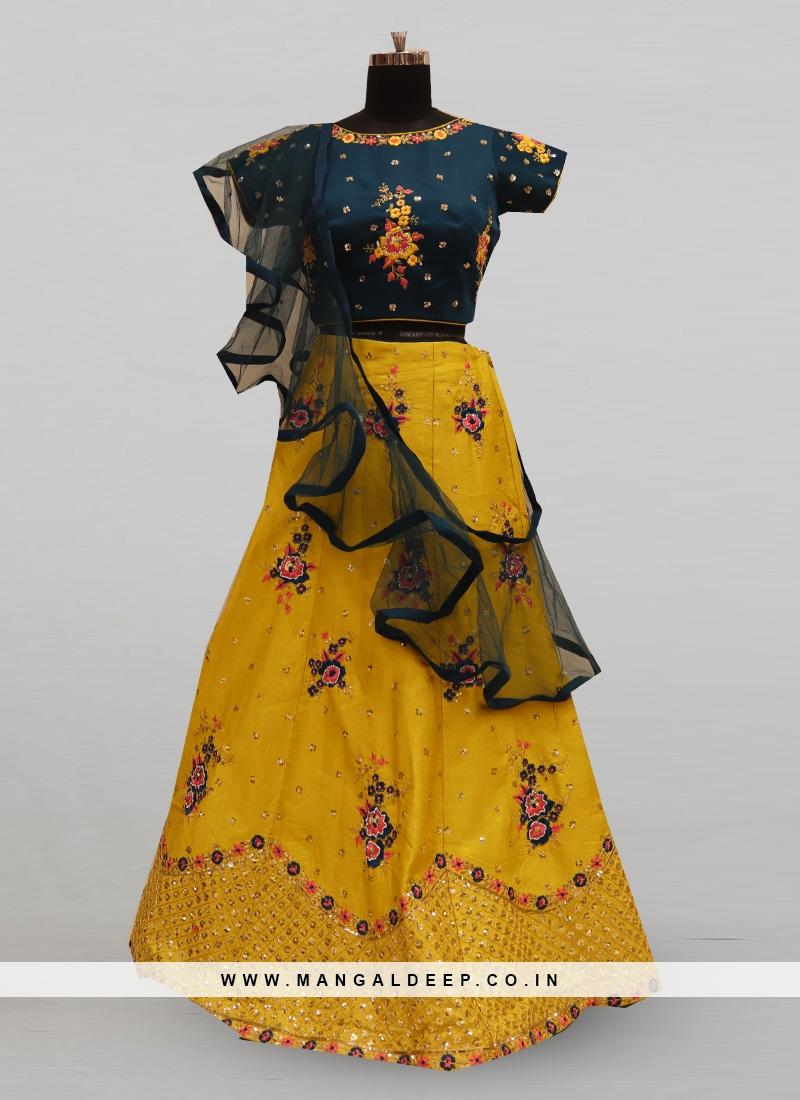 Fabulous Mustard Color Party Wear Deisgner Lehenga Choli