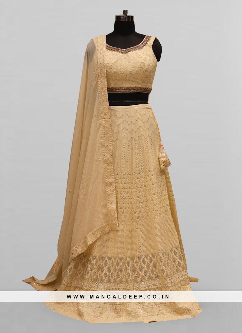 Fabulous Off White Color Function Wear Lehenga Choli