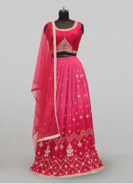 Fabulous Pink Color Party Wear Deisgner Lehenga Choli