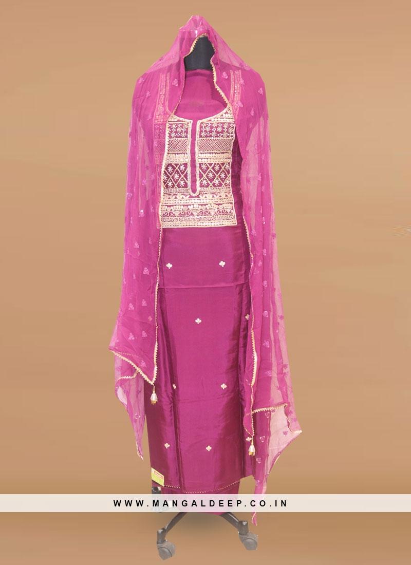 Fabulous Purple Color Function Wear Designer Salwar Kameez