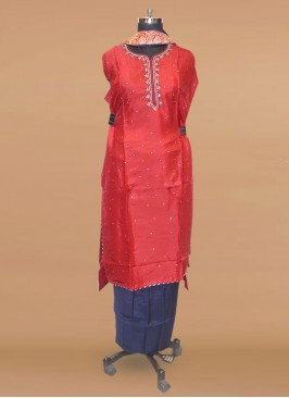 Fabulous Red Color Function Wear Designer Salwar Kameez