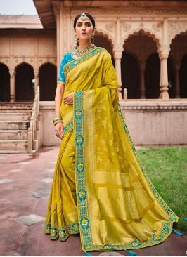 Fancy Dolla Silk Yellow Saree