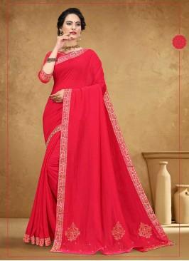 Fancy Silk Pink Saree