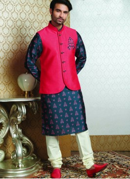 Festive Function Wear Blue Color Designer Kurta Pajama