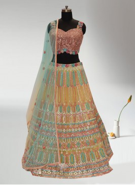 Festive Function Wear Multi Color Designer Lehenga Choli