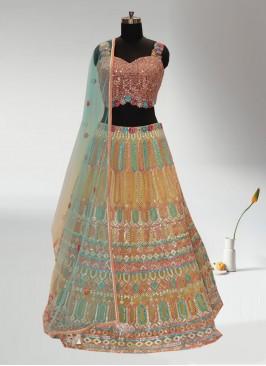 Festive Function Wear Multi Color Designer Lehenga Choli