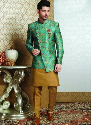Festive Function Wear Multi Color Jodhpuri Kurta Pajama