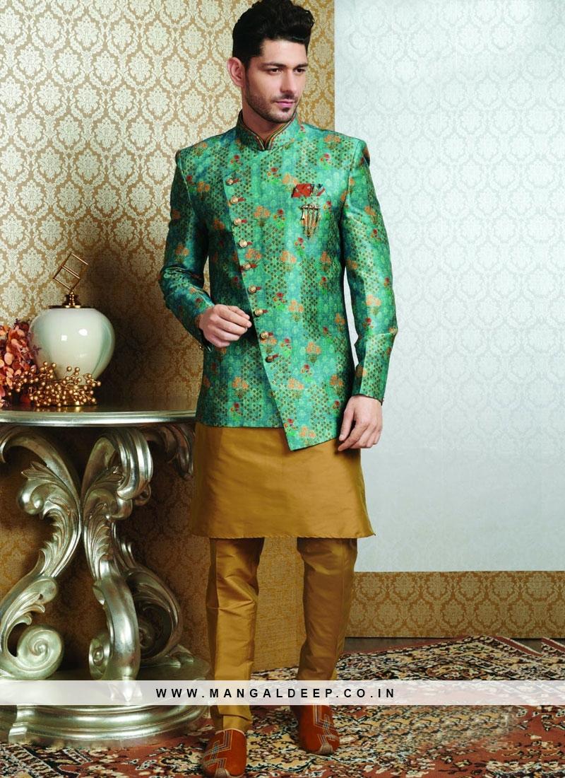 Festive Function Wear Multi Color Jodhpuri Kurta Pajama