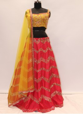 Festive Function Wear Red Color Lehenga Choli