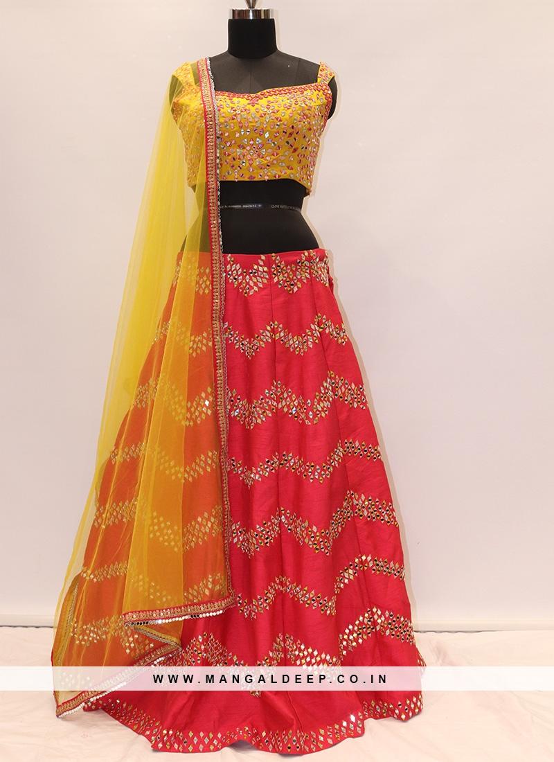 Festive Function Wear Red Color Lehenga Choli