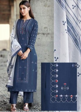 Festive Wear Blue Color Designer Suit