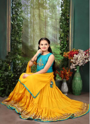 Festive Wear Yellow Color Designer Lehenga Choli