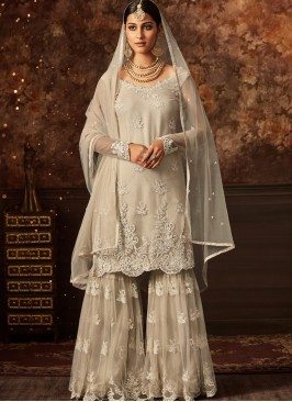Festive Wear Grey Color Designer Suit