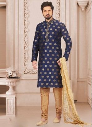 Festive Wear Kurta Payjama In Blue