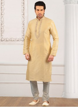 Festive Wear Kurta Payjama In Cream