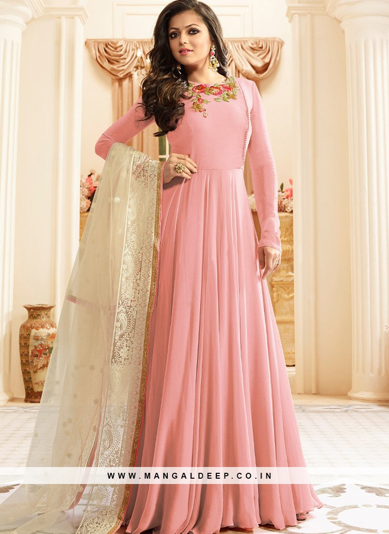 Festive Wear Pink Color Designer Suit