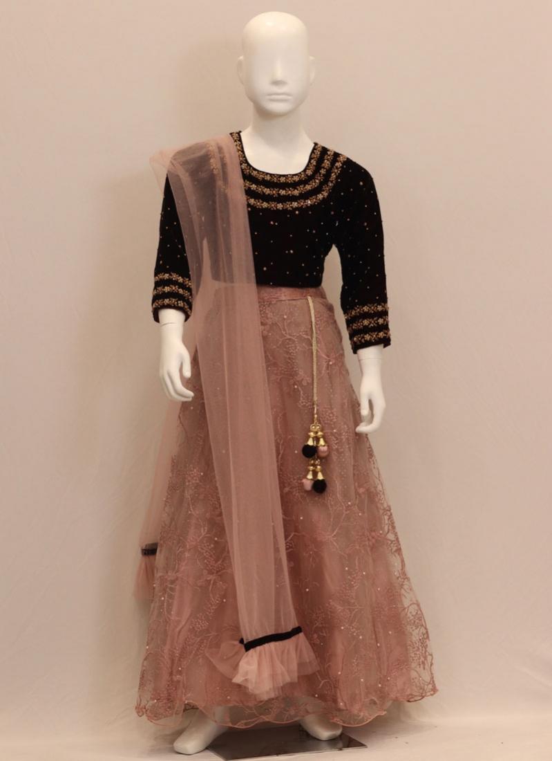 Festive Wear Pink Color Embroidered Lehenga Choli