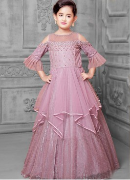 Festive Wear Purple Color Designer Gown