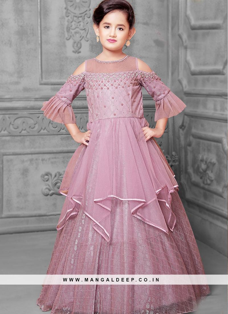 Festive Wear Purple Color Designer Gown