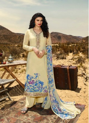 Festive Wear Yellow Color Designer Suit
