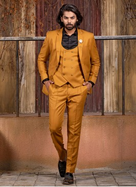Flaunt In Bold, Mustard Suit Set