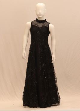 Function Wear Classic Black Color Designer Gown