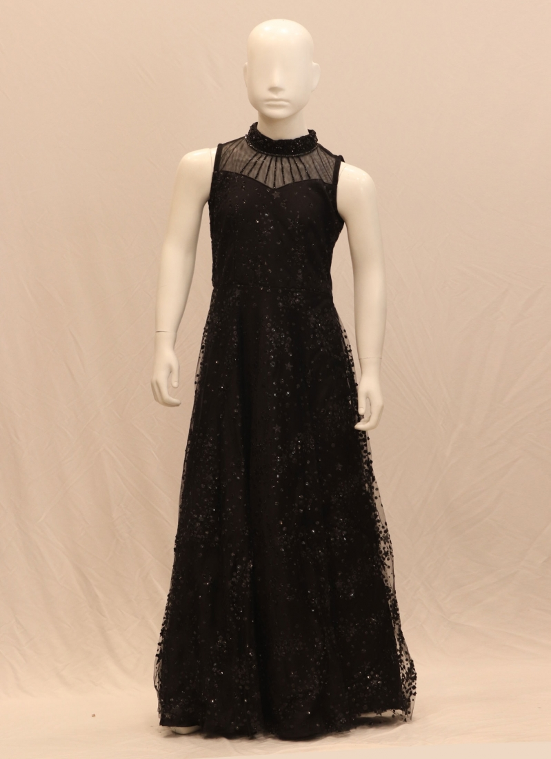 Function Wear Classic Black Color Designer Gown