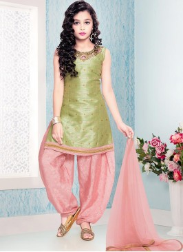 Function Wear Green Color Fancy Kids Wear Suit