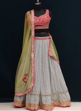 Function Wear Grey Color Designer Lehenga Choli