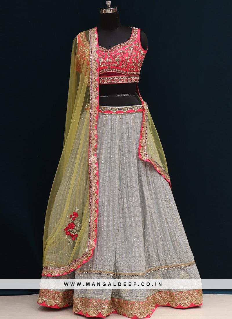 Function Wear Grey Color Designer Lehenga Choli