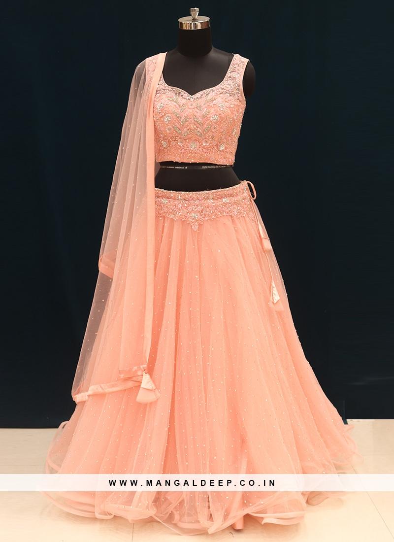 Function Wear Pink Color Designer Lehenga Choli