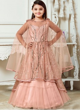 Function Wear Pink Color Fancy Gown