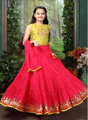 Function Wear Pink Color Fancy Lehenga Choli