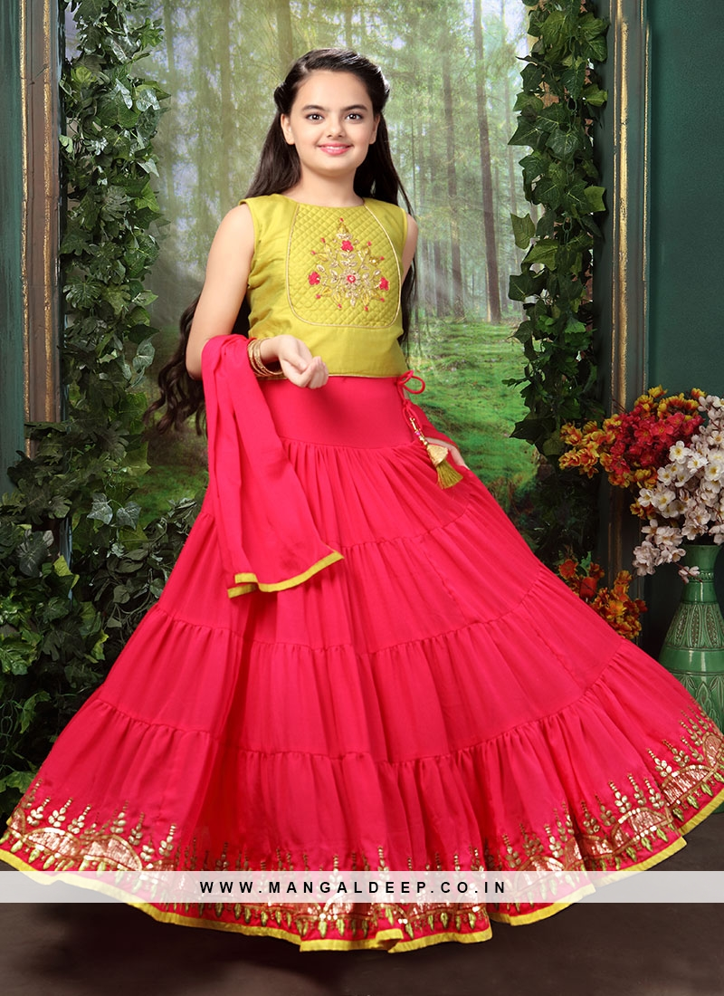 Function Wear Pink Color Fancy Lehenga Choli