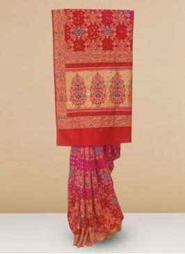 Function Wear Silk Saree In Multi Color