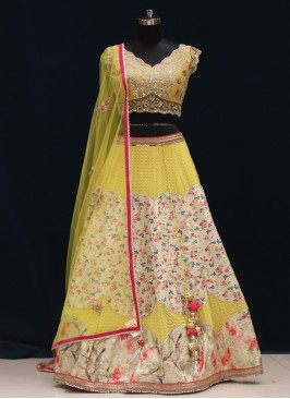 Function Wear Yellow Color Designer Lehenga Choli