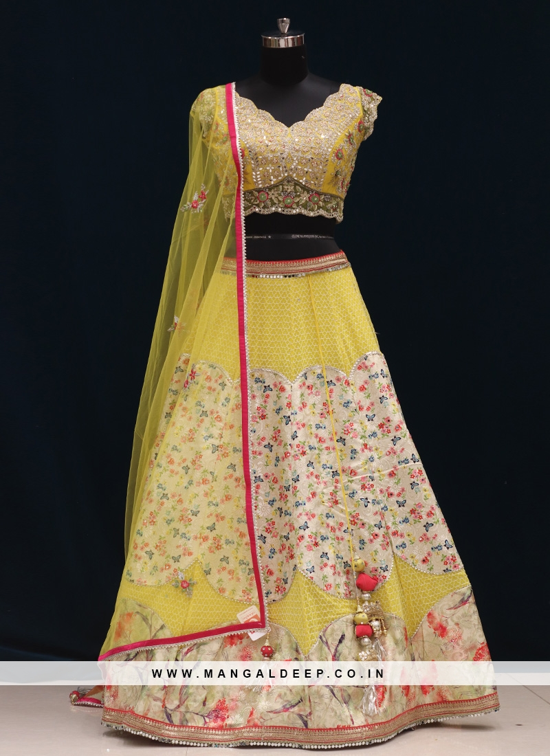 Function Wear Yellow Color Designer Lehenga Choli