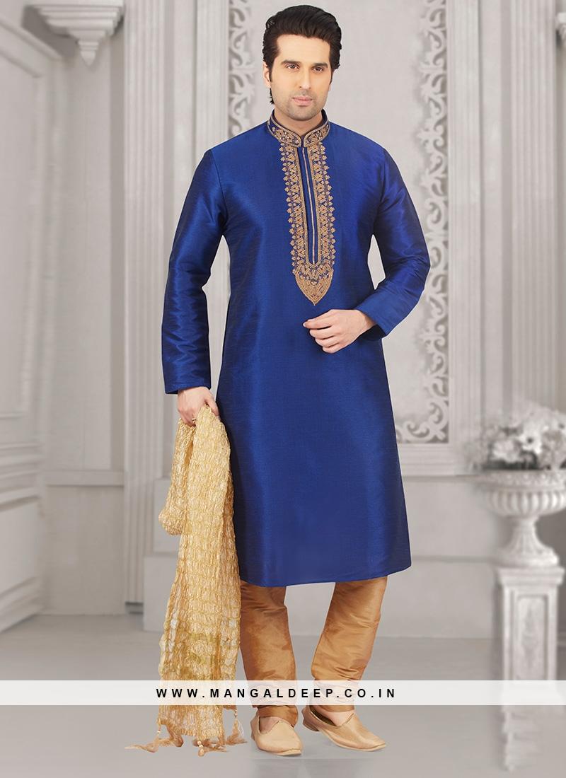 Glamorous Blue Color Designer Kurta Payjama