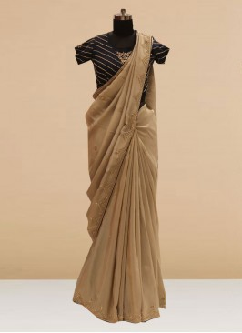 Glamorous Grey Color Function Wear Saree In Silk Fabric