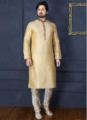 Gold Art Banarasi Silk Kurta Pajama