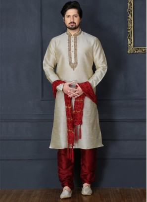 Gold Embroidered Kurta Pajama