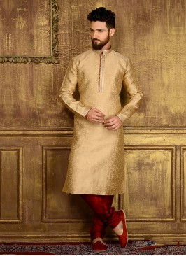 Golden Colour Party Wear Kurta Pajama