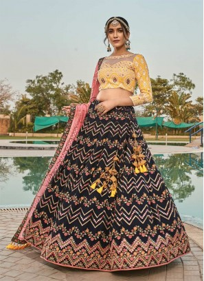 Gorgeous Black Color Party Wear Lehenga Choli
