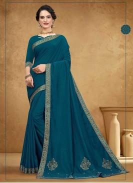 Gorgeous Silk Teal Blue Saree